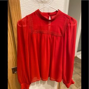 Gap Red Blouse